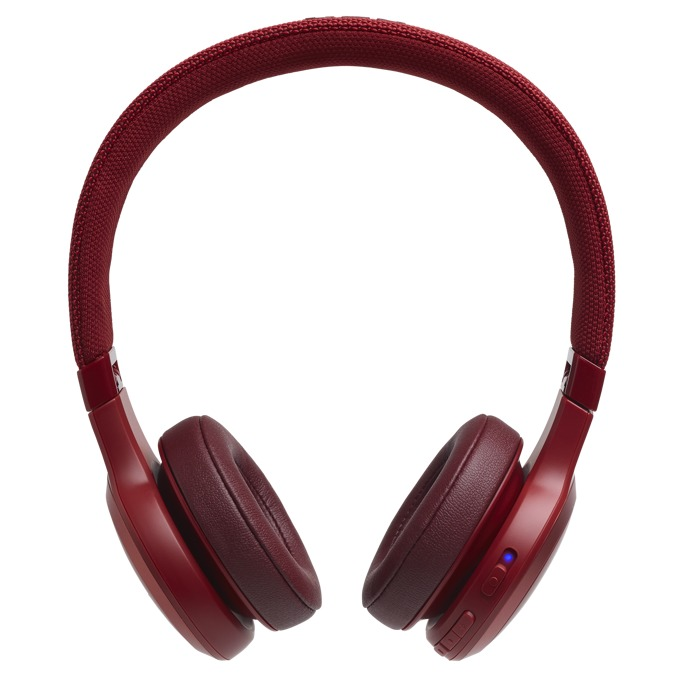 Слушалки JBL LIVE 400BT, безжични, микрофон, до 24 часа работа, червени image