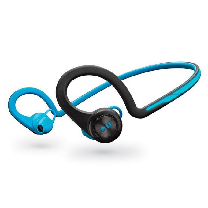 Слушалки Plantronics Backbeat FIT, безжична, микрофон, водоустойчиви, син/черен image