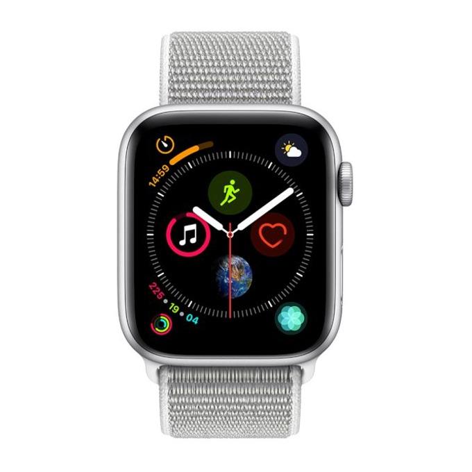 Смарт часовник Apple Watch S4 44mm, OLED дисплей, водоустойчив, спортна каишка, сив image