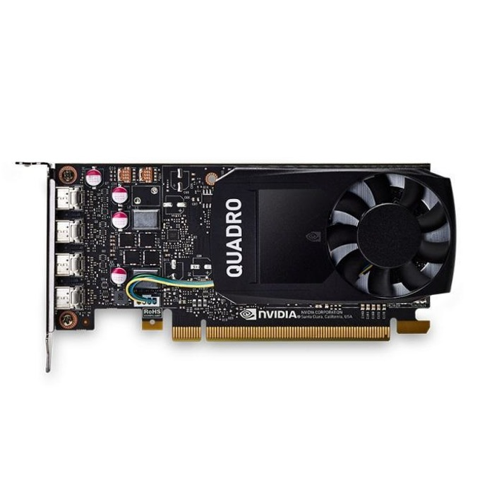 Видео карта NVIDIA Quadro P1000, 4GB, PNY VCQP1000DVI-PB, PCI-E 3.0, GDDR5, 128-bit, 4x mDisplayPort image
