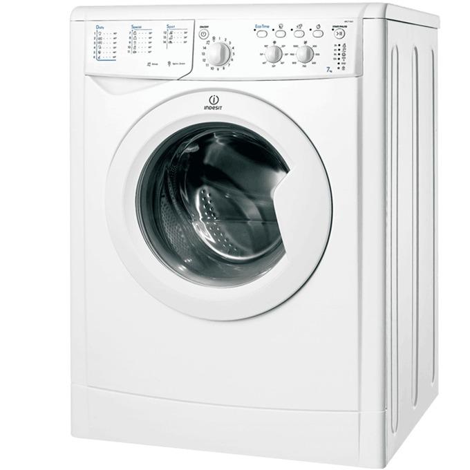 Перална машина Indesit IWC 71051C ECO, клас A+, 7 кг. капацитет, 1000 оборота в минута, 12 програми, свободностояща, 60 cm. ширина, бяла image