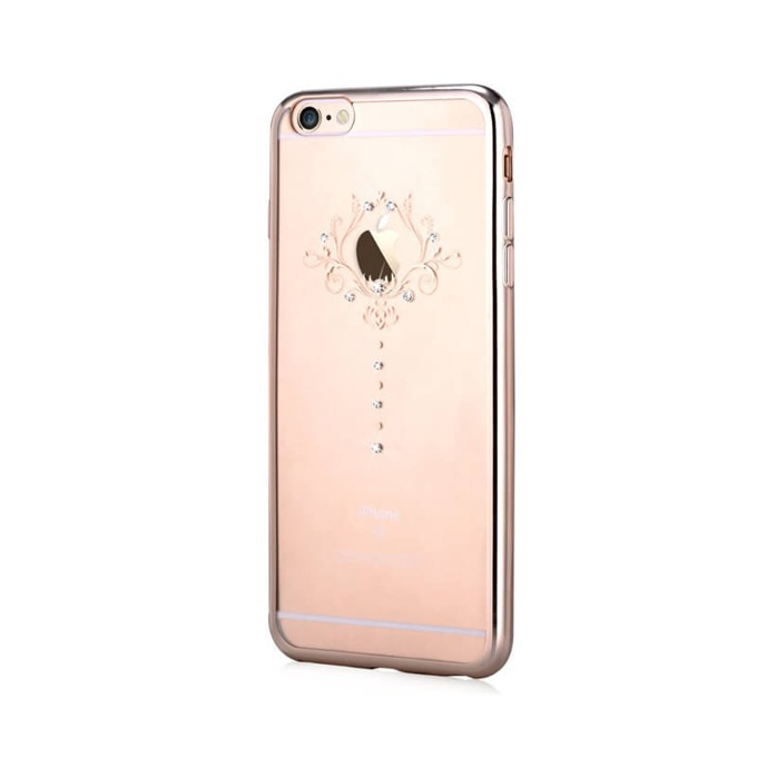 Силиконов протектор Devia (с кристали Сваровски) за Apple iPhone 6 Plus и iPhone 6S Plus, златист image