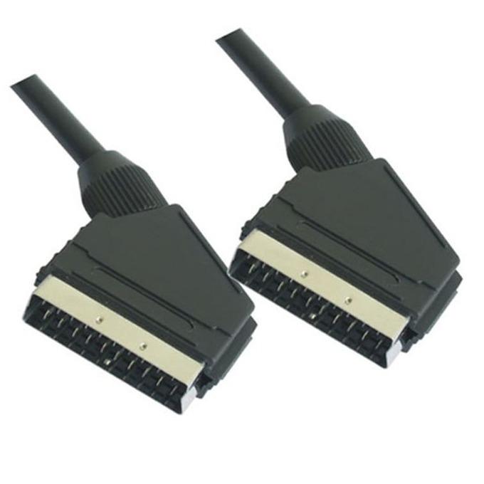 Видео кабел VCom CV701, Scart(м) към Scart(м), 1.5m, черен image