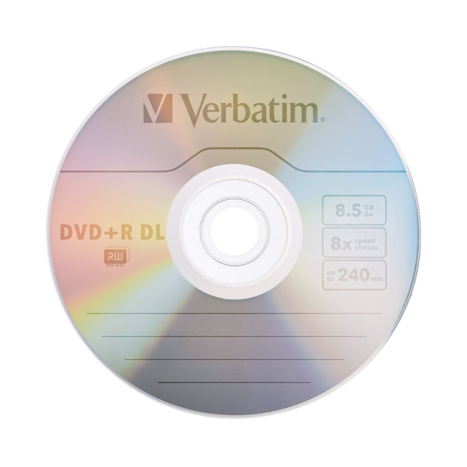 Оптичен носител DVD+R DoubleLayer media 8.5GB Verbatim 8x image