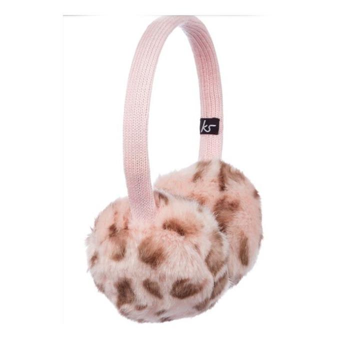 Слушалки KitSound Earmuffs Leopard, розови, с ушанки image