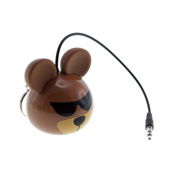 Тонколона KitSound Mini Buddy Bear, 1.0, 2W, USB, кафява, вградена Li-Ion батерия image