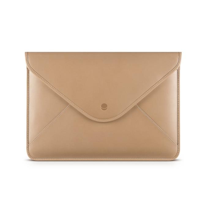 "Калъф за лаптоп Apple MacBook 12"" (30.48 cm), Beyza Thinvelope, кожен, кафяв image"