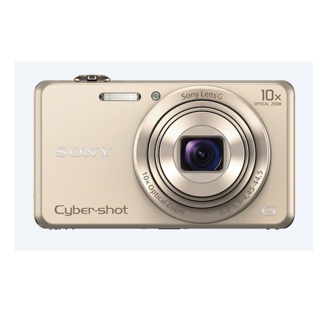 "Фотоапарат Sony Cyber Shot DSC-WX220, златист, 10xOptical zoom, 18.2Mpix, 2.7"" (6.86cm) екран, SDHC/SDXC, micro USB, micro HDMI image"