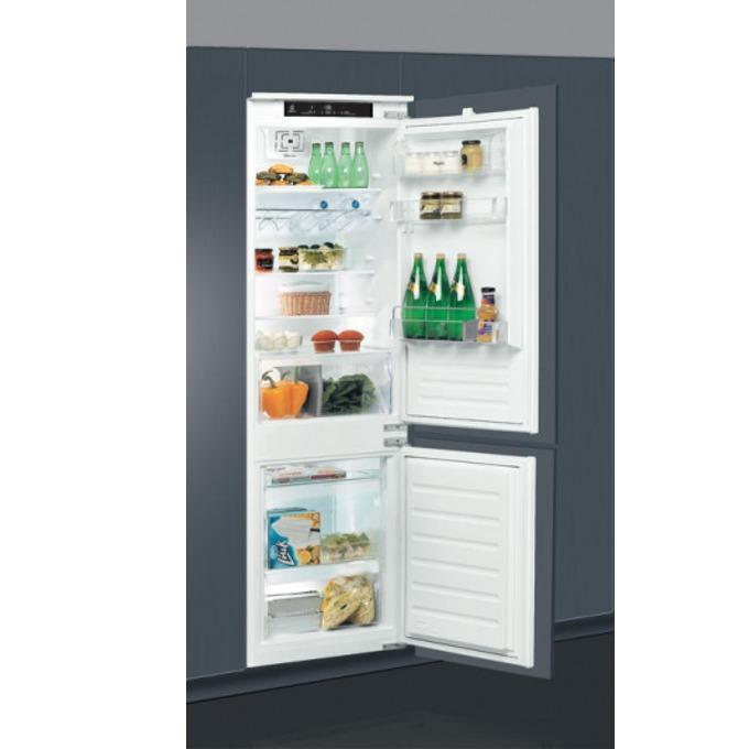 Хладилник с фризер Whirlpool ART 7811 / A+, 275 л. общ обем, за вграждане, 299 kWh/годишно, 6-то чувство, LED осветление, бял  image