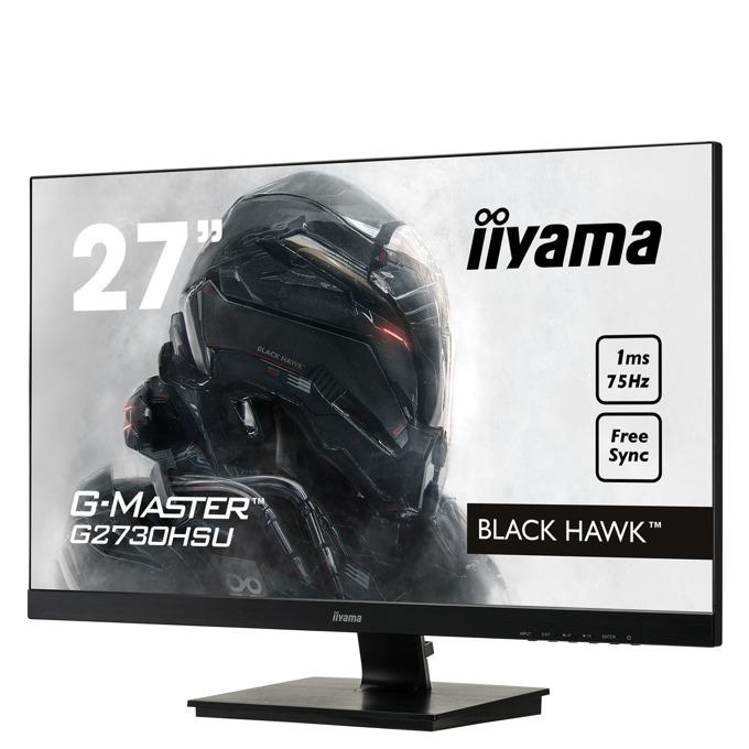 "Монитор Iiyama Prolite G2730HSU-B1, 27""(68.58 cm) TN панел, Full HD, 1ms, 12 000 000:1, 1000 cd/m2, Display port, HDMI, DVI, VGA image"