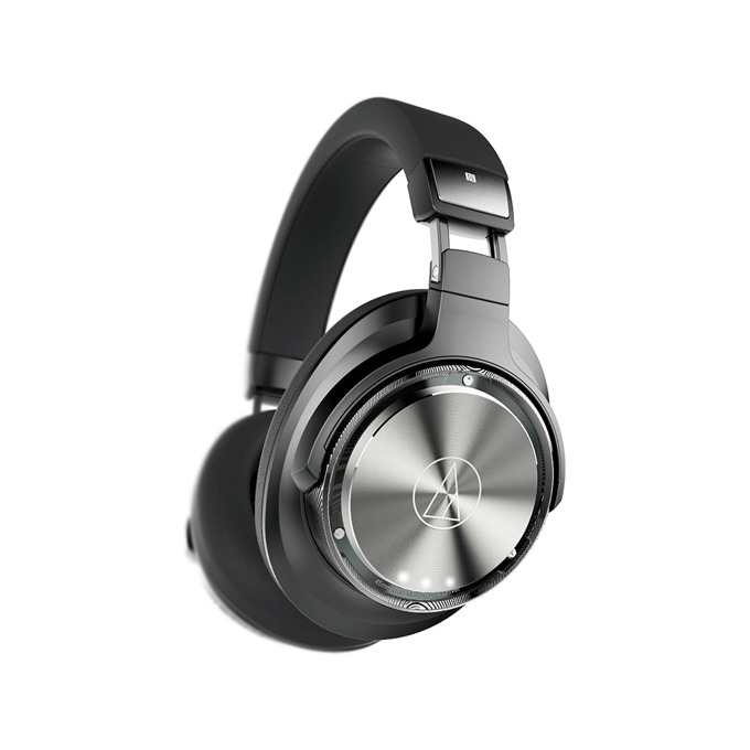 Слушалки Audio-Technica ATH-DSR9BT, безжични(Bluetooth 4.2)/NFC, микрофон, Pure Digital Drive система, до 10м обхват, до 15 часа време за работа, бързи бутони, USB, сиви-черни image