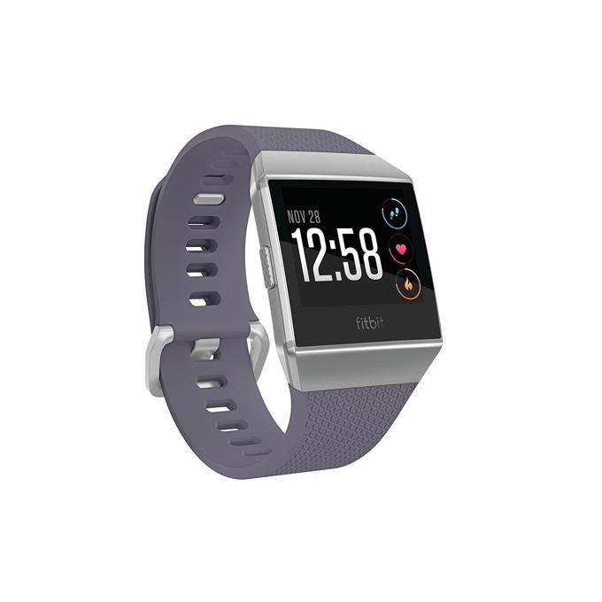 Смарт часовник Fitbit Ionic, цветен сензорен дисплей, GPS, Bluetooth 4.0, до 10 часа време за работа, водоустойчив, сив-сребрист image