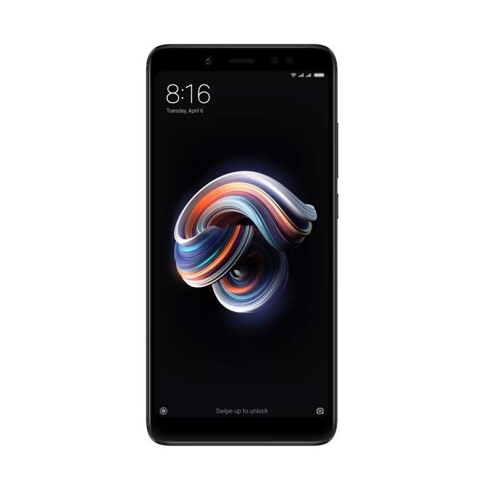 """Смартфон Xiaomi Redmi Note 5(черен), поддържа 2 sim карти, 5.99""""(15.21 cm) Full HD+ IPS дисплей, осемядрен Snapdragon 636 1.8GHz, 4GB RAM, 64GB Flash памет(+microSD слот), 2x 12Mpix & 5.0 Mpix camera, Android, 181g image"""