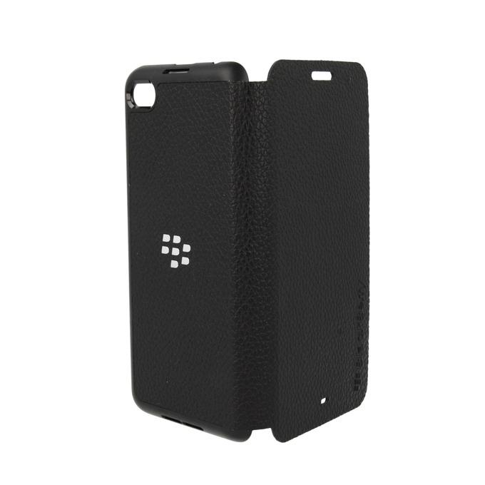 Калъф за Blackberry Z30, отваряем, еко кожа, Blackberry Leather Flip Cover, черен image