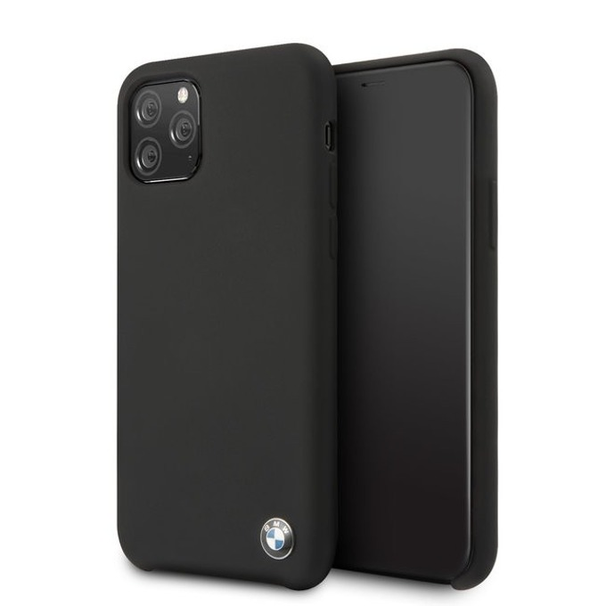 Калъф за Apple iPhone 11 Pro, термополиуретанов, BMW Signature Silicone Hard BMHCN58SILBK, черен image