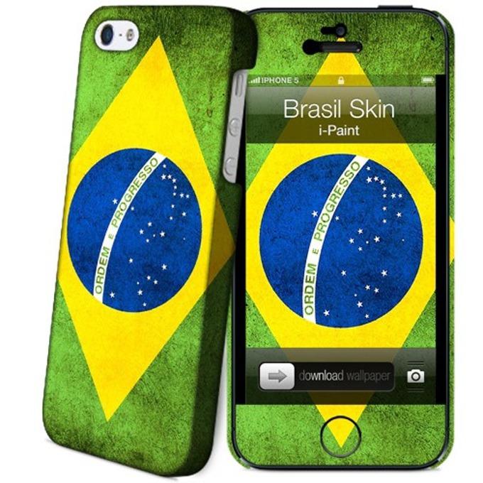 Протектор iPaint Brasil Case за iPhone 5/5s image