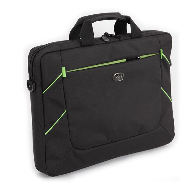 "Чанта за лаптоп LSKY B&G, до 15.6""(39.62 cm), черно/зелена image"