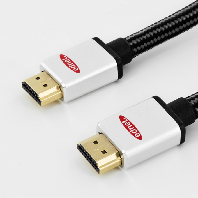 Кабел EDNET 84482, HDMI(м) към HDMI(м), 3.0м, черен, поддържа UltraHD 4K image
