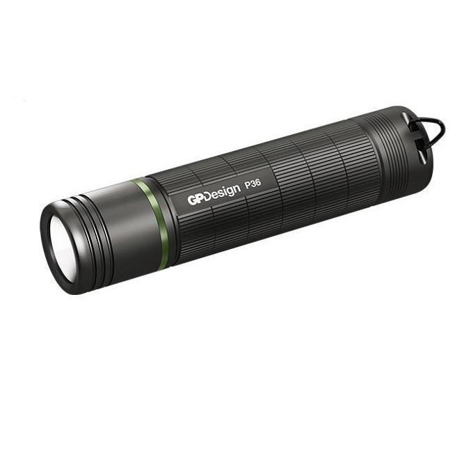 Фенер GP Design Beam P36, 3x AAA батерии, 300 lumens, IPX-4, ръчен, черен image