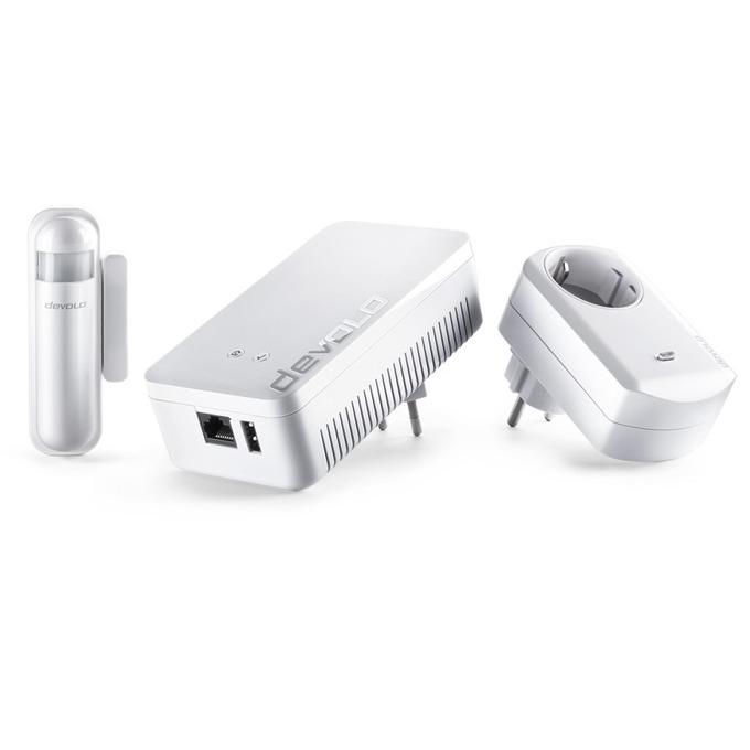 Стартов пакет devolo 09806, Z-Wave безжичен стандарт, предлага основните компоненти които са Ви необходими - централно устройство, сензор врата/прозорец, измервателен контакт, разстояние до 25 метра, бял image