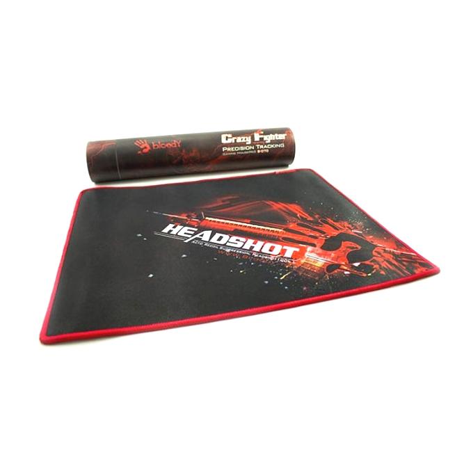 Подложка за мишка A4Tech Bloody OnsLaught, черна с червена щампа, 350 х280 mm image