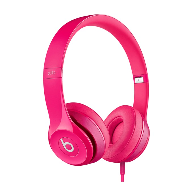 Слушалки Beats by Dre Solo HD 2.0 On Ear, розови, микрофон, сгъваеми, оптимизирани за iPhone/iPad/iPod image