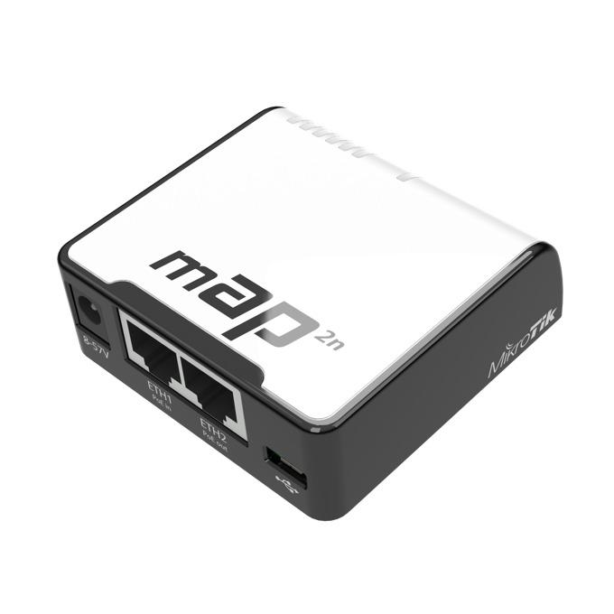Микро точка за достъп MikroTik mAP 2n, 2.4GHz, Wireless N, USB, 2 x 10/100 Ethernet Port image