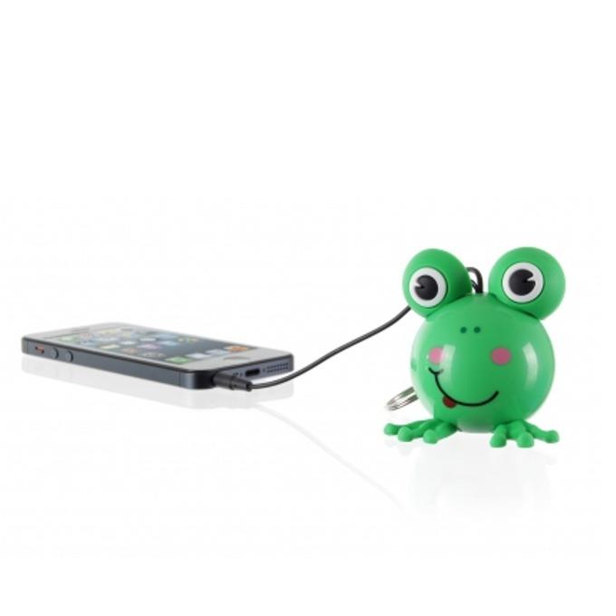 Тонколона KitSound Mini Buddy Frog, 1.0, 2W, USB, вградена Li-Ion батерия image