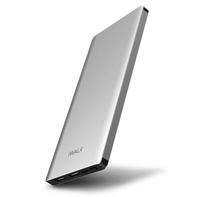 Външна батерия /power bank/ iWalk Chic, 10000mAh, USB, 5V, 2.1A, сребриста image