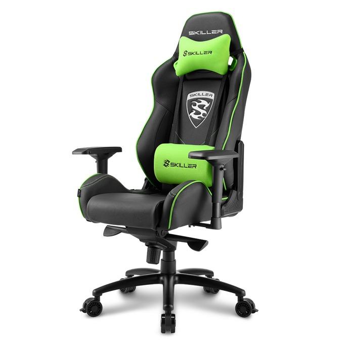 Геймърски стол Sharkoon Skiller SGS3, черен/зелен image