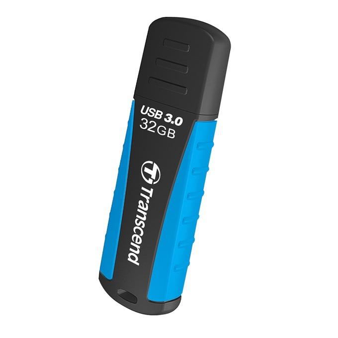 Памет 32GB USB Flash Drive, Transcend JetFalsh 810, USB 3.0, черна/синя image