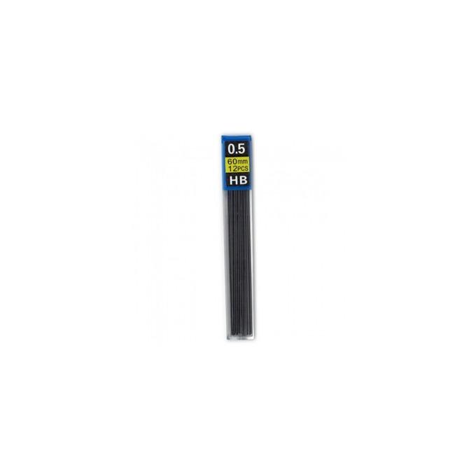 Графит Centrum за автоматичен молив, HB, дебелина на линията 0.5 mm, дължина 60 mm, черен, 12бр. в опаковка  image
