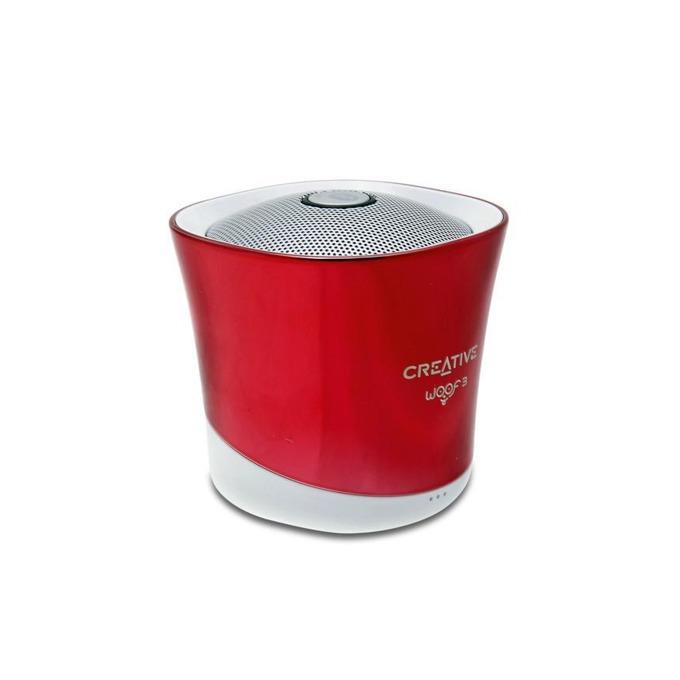 Тонколона Creative Woof 3, 1.0, Bluetooth 2.1, Micro USB, червена, microSD, преносима image