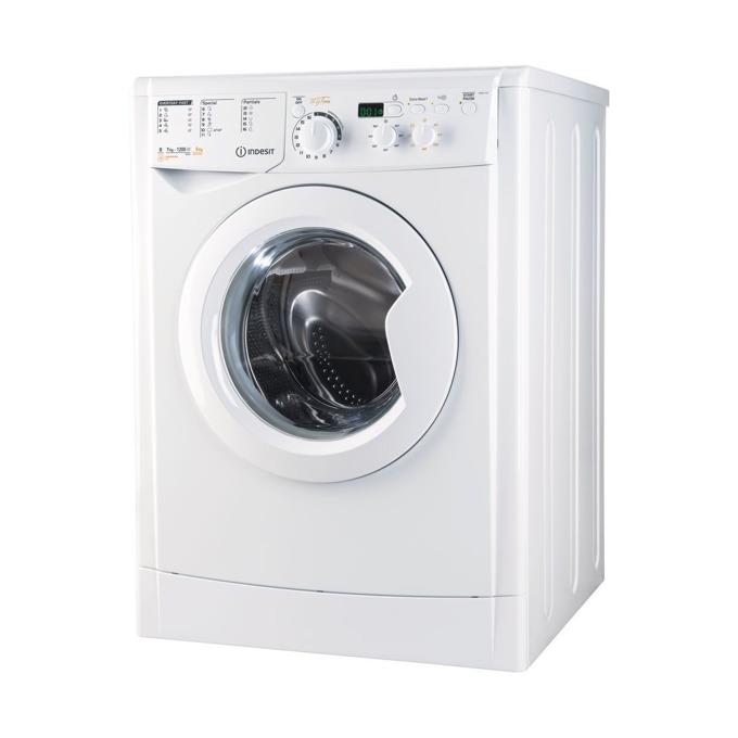 Пералня със сушилня Indesit EWDD 7125 W, клас B, 7 кг. капацитет пералня/5 кг. капацитет сушилня, 1200 оборота в минута, 11 програми, свободностояща, 60 cm. ширина, Termospin технология, опция против миризми, бяла image