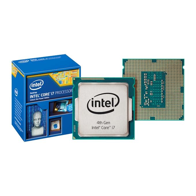 Intel Core i7 4770K (Haswell) четири-ядрен (3.5/3.9 GHz Turbo Boost, 8MB L3, 1.2GHz GPU, LGA1150) BOX, без вентилатор image