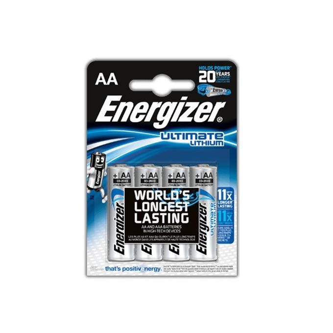 Батерия литиева Energizer Ultimate Lithium, AA, L91, 1.5V, 4бр. image