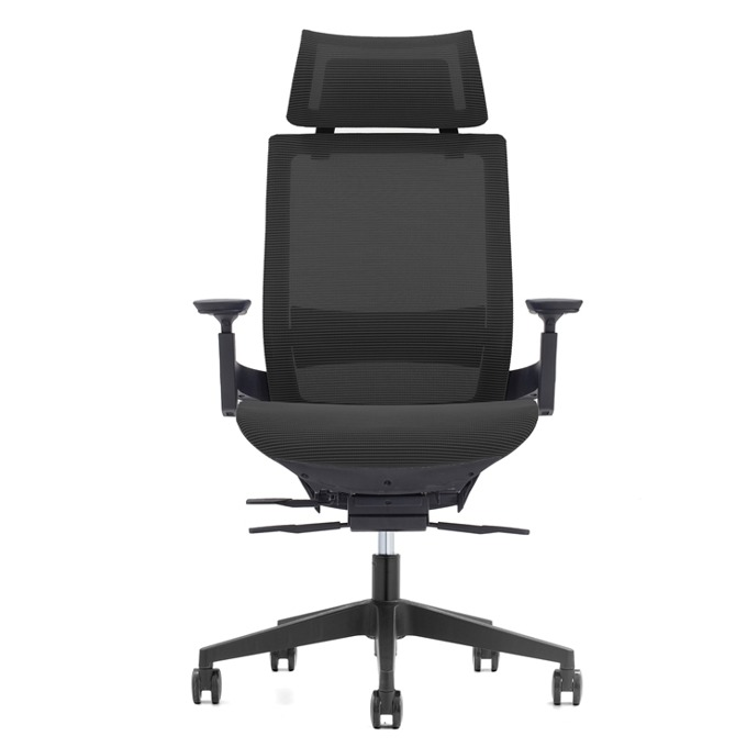 Работен стол RFG Next HB (ON4010200110), меш, 130 кг. максимално натоварване, алуминиева база, газов амортисьор, черен image