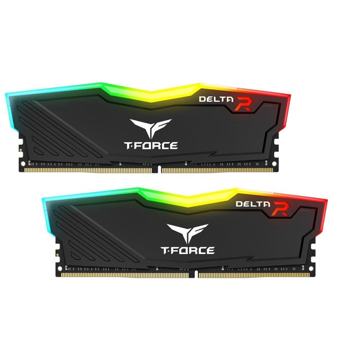 16GB (2x8GB) DDR4 2666MHz, TeamGroup Delta RGB Black, TF3D416G2666HC15BDC01, 1.2V image