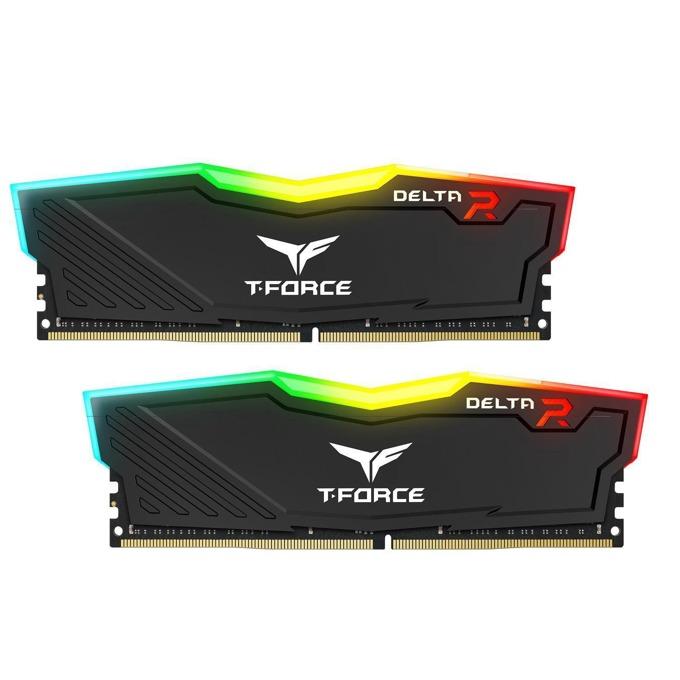 Памет 16GB (2x8GB) DDR4 2666MHz, TeamGroup Delta RGB Black, TF3D416G2666HC15BDC01, 1.2V image