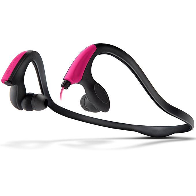 Слушалки Energy Running Two, спортни, микрофон, неоново розови image