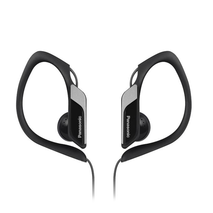 Слушалки Panasonic RP-HS34E, спортни, водоустоичиви, сгъваеми, черни image