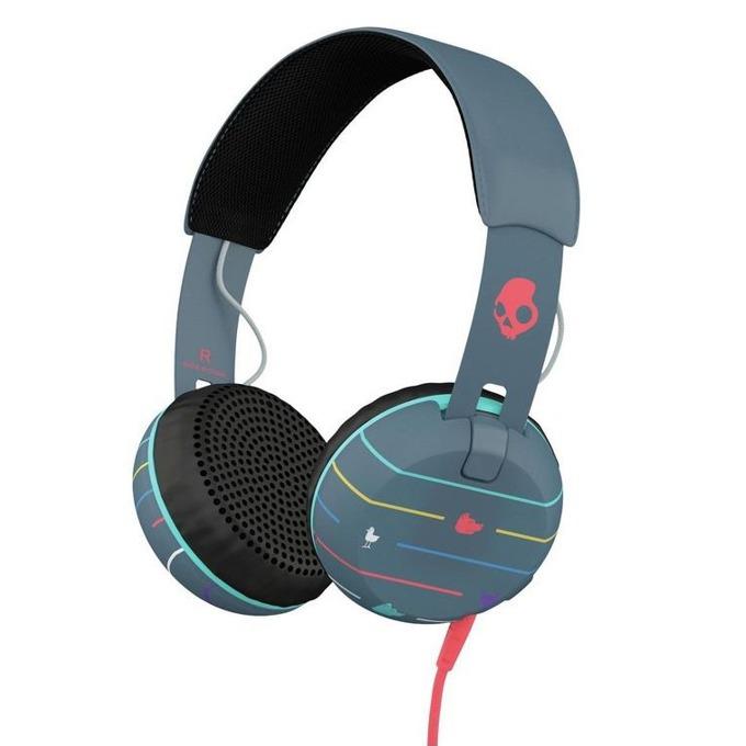 Слушалки Skullcandy Grind Headphones Stripes, дизайнерски, микрофон image