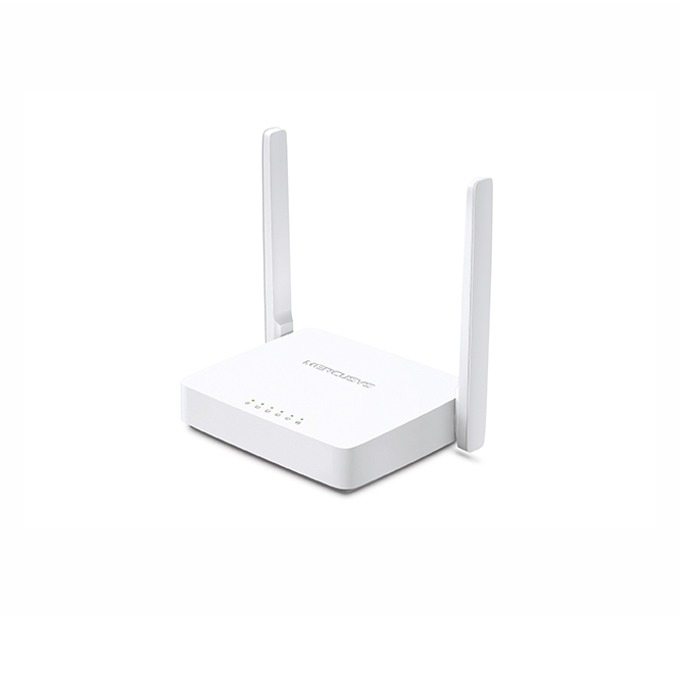Рутер Mercusys MW305R, 300Mbps, 2.4GHz(300 Mbps), Wireless N, 4x LAN 100, 1x WAN 100, 2x външни антени image