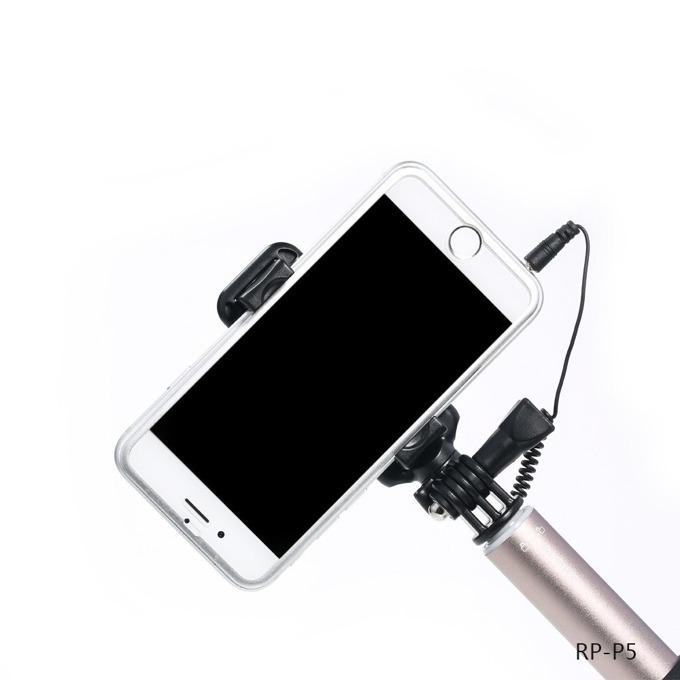 Селфи стик с кабел, Remax P5, Сребрист, универсален image