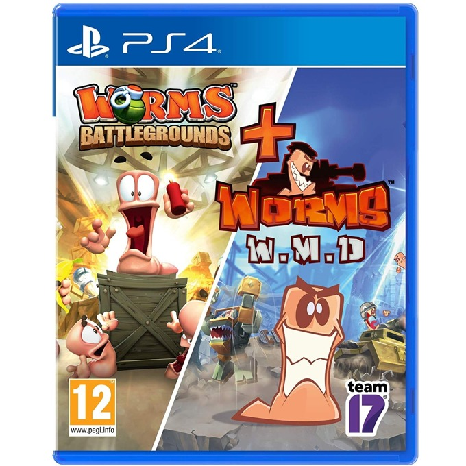 Игра за конзола Worms Battlegrounds + Worms WMD - Double Pack, за PS4 image