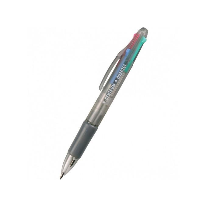 Химикалка Centrum Quartet, различни цветове на писане, 0.7 mm, прозрачна, цената е за 1бр. (продава се в опаковка от 60бр.) image