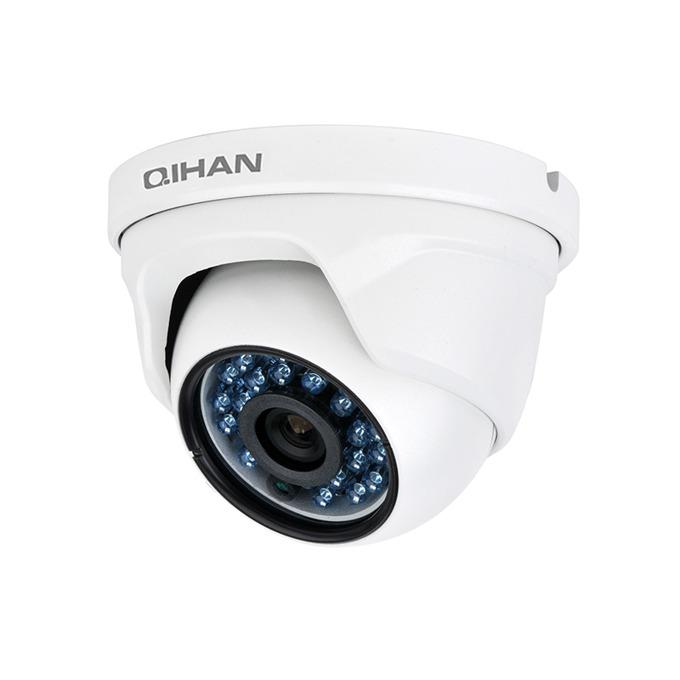 "IP камера Qihan QH-NV470SO-P, IP Камера, куполна, водоустойчива, 2.0 MP, 1920x1080@30fps, 1/2.7"" CMOS, 3.6mm, POE, ИЧ-20m image"