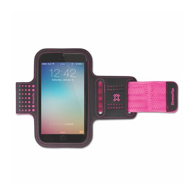 Калъф за ръка XtremeMac за Apple iPhone 6S, iPhone 5s, iPhone 5c, iPhone 5, iPhone 4s, Samsung S6, Samsung S6 Edge, Samsung S5, Ipod, iTouch, Lumia, Blackberry, розов/черен image