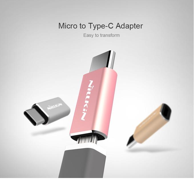 Преходник Nillkin XI126 от Micro USB(ж) към USB-C(м), сребрист image