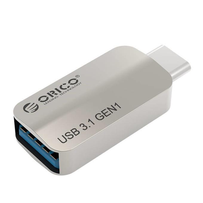 Преходник Orico CTA2-SV, от USB C(м) към USB A 3.0(ж), метален, сребрист image